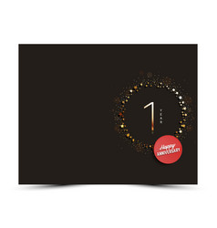 1 yearsanniversary decorated card template vector