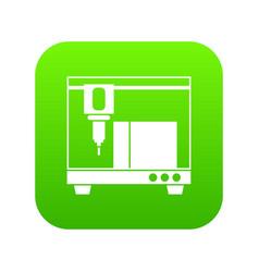 3d printer icon digital green vector