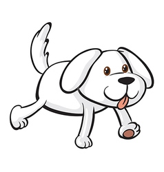 A smiling dog vector image