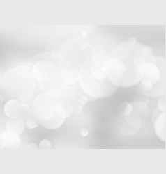 abstract bokeh silver background vector image