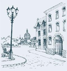 Architectural landscape vector image