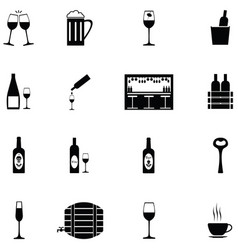 bar icon set vector image