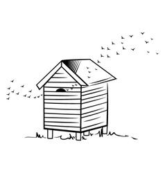 Bee hive vector image