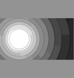 black and white modern circles copy space vector image
