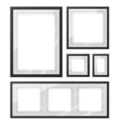 Black picture frame set vector