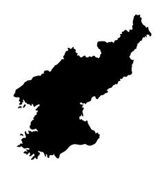 black silhouette country borders map of north vector image