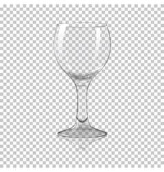 Blank tall transparent photo realistic isolated vector