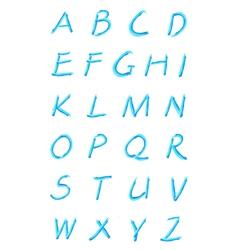 blue abc vector image