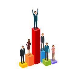 business infographics career achievement vector image