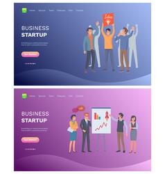 business startup people successful teamwork set vector image