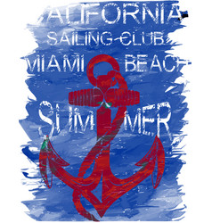 california surf club tee graphic design vector image