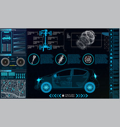 car infographics hud for the application vector image