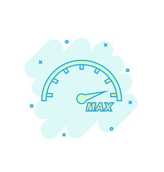 Cartoon colored max speed icon in comic style vector