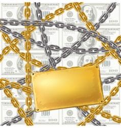 Chain protecting money vector
