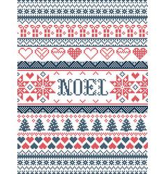 Christmas pattern noel inspired by winter vector