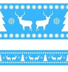 Christmas Reindeer Nordic Pattern vector image