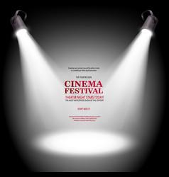 Cinema festival banner vector