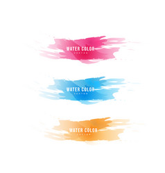 Colorful watercolor design vector