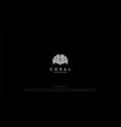 Coral reef or brain neuron logo design vector