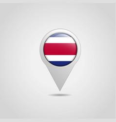 costa rica map pointer icon design vector image