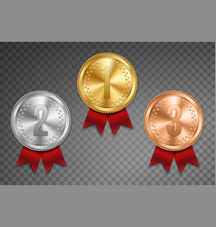 creative of realistic gold vector image