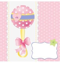 Cute template for bapostcard vector