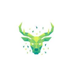 deer polygon concept design template vector image