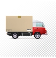 Delivery vehicle truck vector image