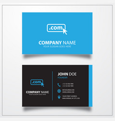 Domain com icon business card template vector