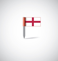 England flag pin vector