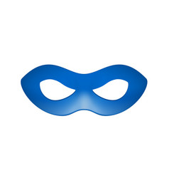 Eye mask in blue design vector
