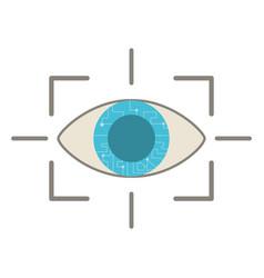 eye virtual reality concept vector image