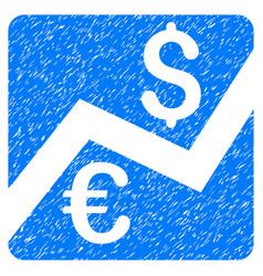 Forex market chart grunge icon vector