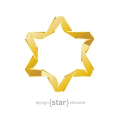 golden star of David on white background vector image