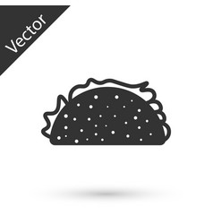 Grey taco with tortilla icon isolated on white vector