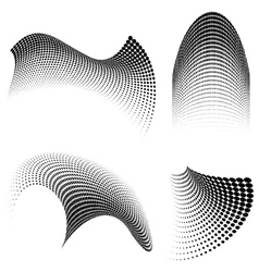 halftone swirls vector image