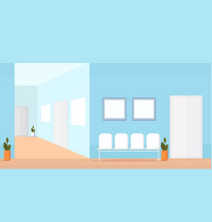hospital waiting hall with seats empty no people vector image