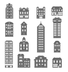 House Icons Black vector