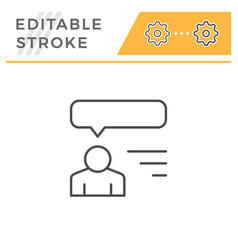 human opinion editable stroke line icon vector image