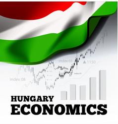hungary economics vector image