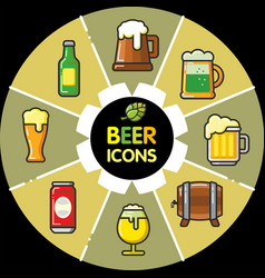 Infographic food icons beer alcohol vector