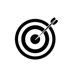 Isolated target dartboard vector image