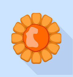 jelly flower cookie icon flat style vector image