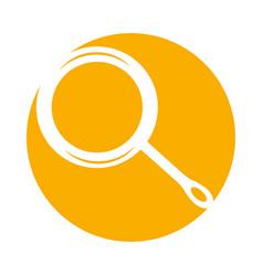 Kitchen pan isolated icon vector