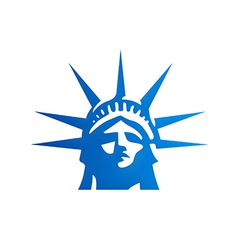 Liberty statue head freedom logo vector