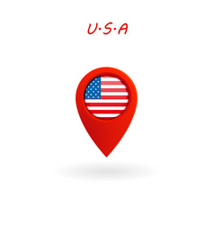 location icon for united states flag eps file vector image
