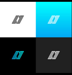 logo n with lines linear logo of the letter n vector image