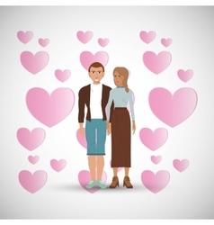 Love design Romantic icon Colorfull vector image