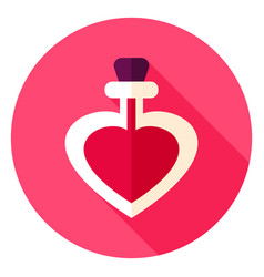 love potion circle icon vector image