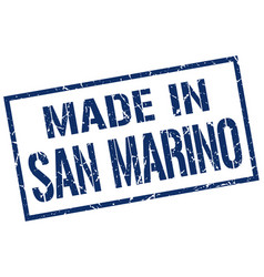 Made in san marino stamp vector